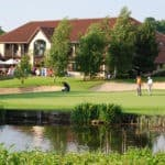 The 18th hole at the Kendleshire
