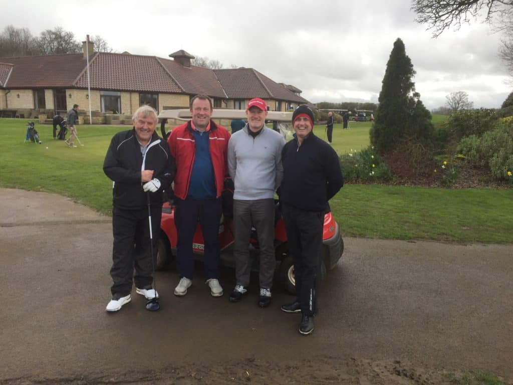 Fore King Golf Competitors Malcolm, Gareth, Peter & Sean