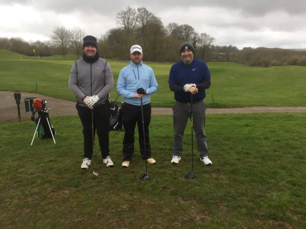Fore King Golf Competitors Tyrone, Aaron & Matt