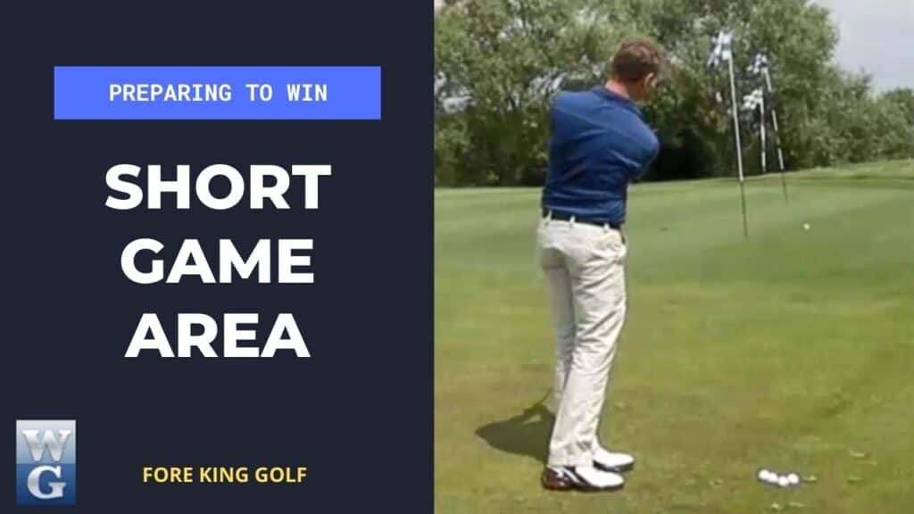 Short Game Warm Up Before A Golf Competition