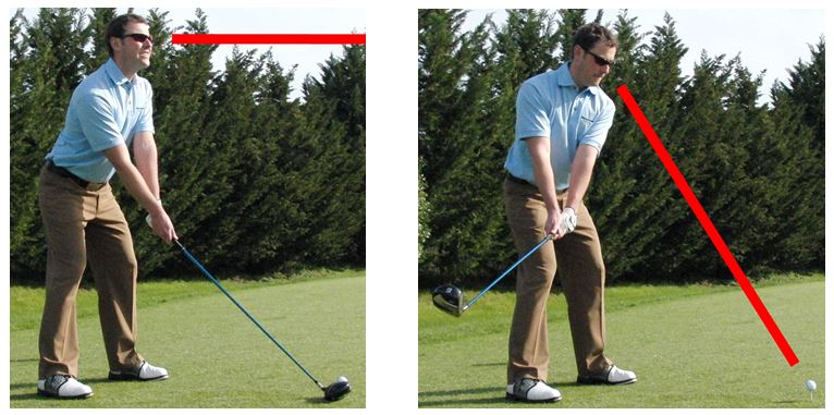 look back to the ball which will help keep the eyes parallel to the ball to target line.