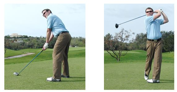 PGA Pro Richard Lawless hitting a golf ball