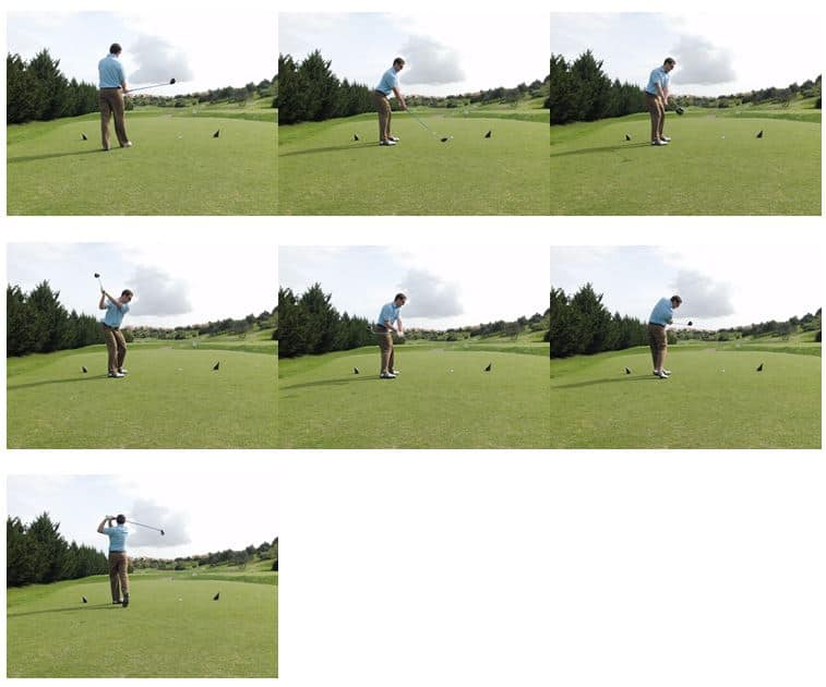 Making a practice swing, with a meaning and a purpose.