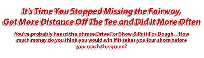 Graphic Headline for Drive for Show golf coaching