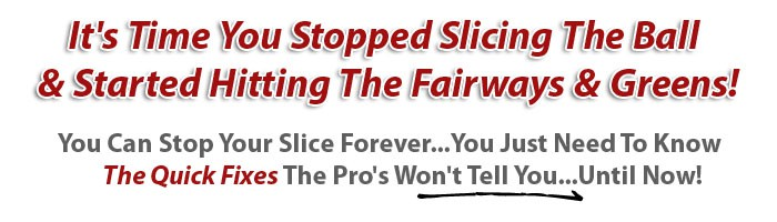 graphic headline for How to Fix A Slice