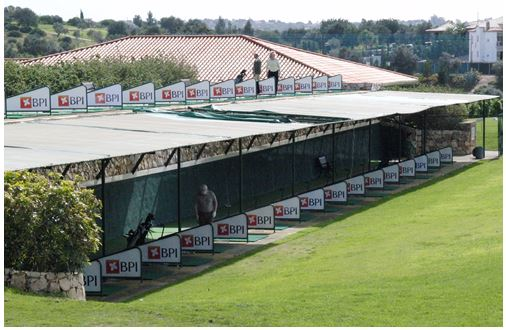 PGA Professional Richard Lawless stood on the top deck of the Driving Range