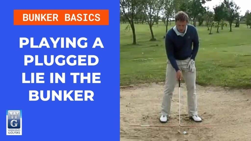 playing a plugged lie in a bunker