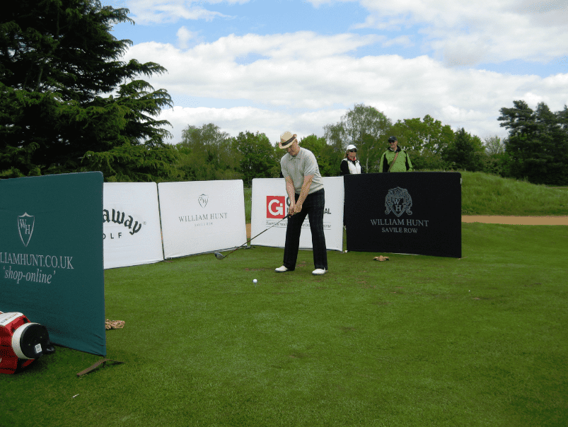 Steve King Teeing Off On The Trilby Tour At Frilford Heath Golf Club