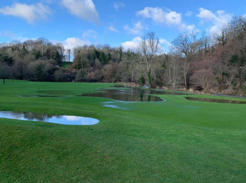 This is the 8th hole at my home course at Manor House Golf Club in December 2020 after a few days of heavy rain