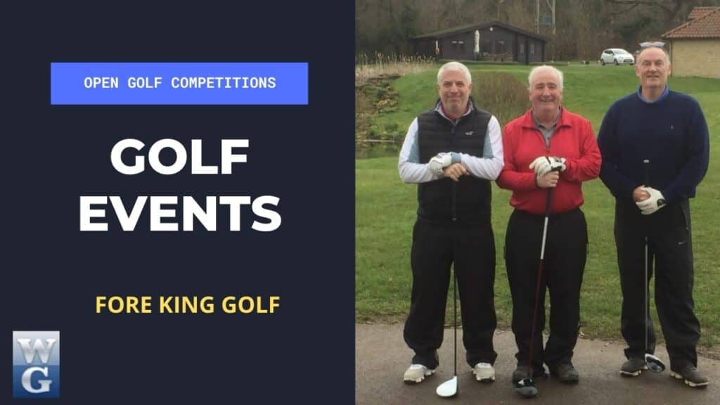 Open Golf Events By Fore King Golf