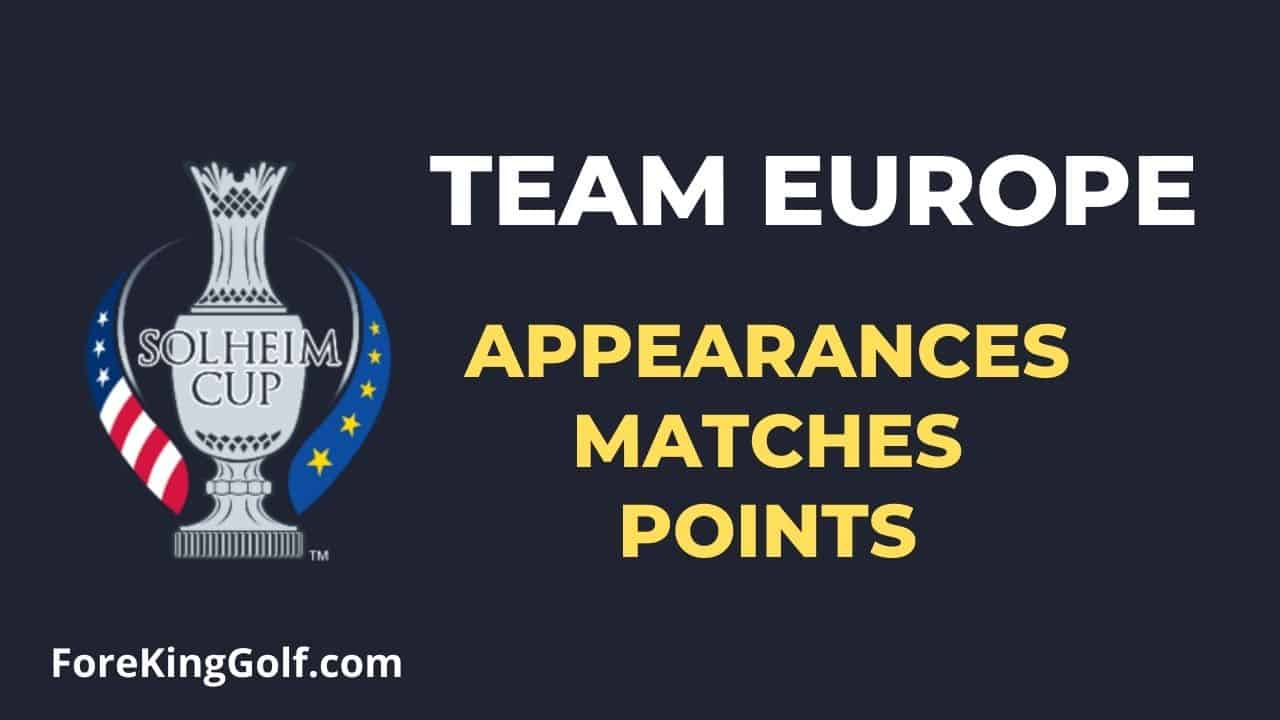 Solheim Cup Europe Appearances, Matches & Points